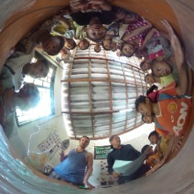2nd day workwhop at Painting Smile School. Sihanoukville, Cambodia  #theta360