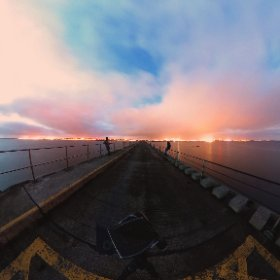 Sunset at the Mutton Island in Galway #theta360 #theta360uk