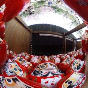 箕面市・勝尾寺の勝ちダルマ #theta360