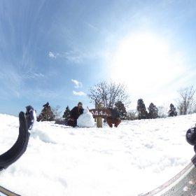 恐羅漢頂上でオヤジボーダー2人景色堪能。 #恐羅漢スノーパーク #theta360