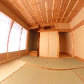 バーチャル新築現場見学会【和室・K邸】  (画面右下の丸マークから、砂時計を横にしたようなマークを選択頂き、ご覧下さい。)