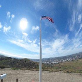 Patriots trail flagpole #theta360