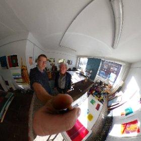 Tas der bildenden Kunst - im Atelier von Werner Constroffer im Quartier Eurobahnhof #theta360 #theta360de