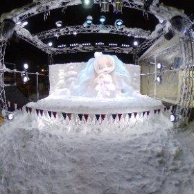 雪ミクさんの今年もとってもかわいいです! #miku360  #theta360