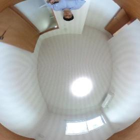 世田谷区等々力にあります「セレスティアル等々力」2SLDKの洋室パノラマ写真です。室内にウォークインクロゼットがあります。http://www.futabafudousan.com #theta360
