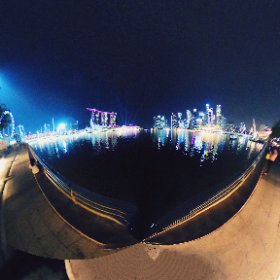 Singapore night skyline #theta360
