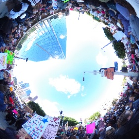 1/21/17: An estimated 100,000+ participated in the #WomensMarchLA #popup360newsroom