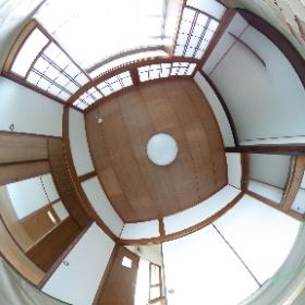 鹿児島市唐湊3丁目 一戸建て貸家の4畳半和室。5DKⓅ2台つき #theta360