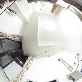 パオ35の110号室を全天球広角カメラで撮影しました。このお部屋は内覧用として、モデルルーム仕様にしています。
