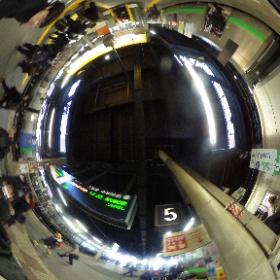 JR札幌駅 到着にて #まるちゃん写真集  #まるちゃん北海道旅行 #theta360