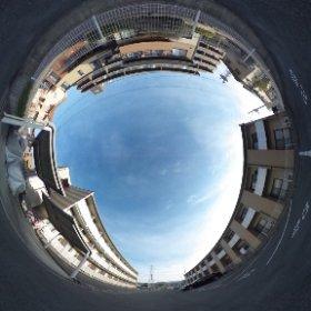 松山市の家電家電付き賃貸マンション、グランドカメリアⅥの敷地北西