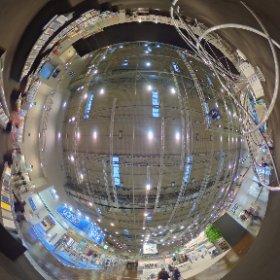 DeubauKom 2016: ziemlich leere und nur zur hälfte gefüllte Halle 3 #theta360