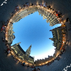 Grand Place at night, Brussels  #theta360