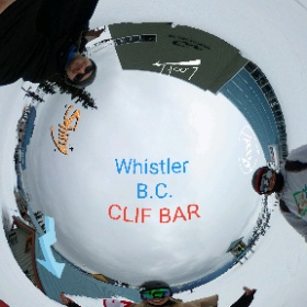Clif  Bar at Blackcomb summit in Whistler B.C. WSSF a 360 image. To watch 360 videos also for for Virtual reality viewing visit http://www.ThisIsMeInVR.com  #theta360