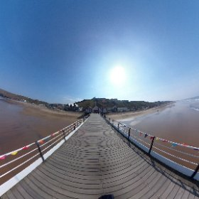 360 shot of pier at Saltburn.  #theta360 #theta360uk