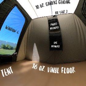 6010 Kodiak 10x10 Deluxe Tent #theta360