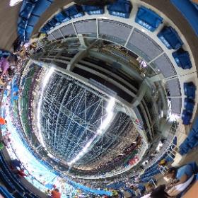 #Rio2016 競泳レース前の競技会場 #theta360