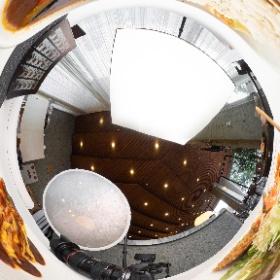 鳥取県立博物館内にあるレストラン、カフェ・ダール・ミュゼ様の撮影 #theta360