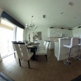 Open lounge, dining and kitchen area