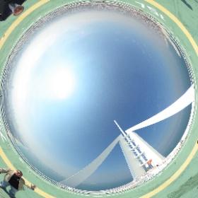 My family and me with the amazing @burjalarab team on their helipad in #Dubai. What a view! #theta360 #theta360uk