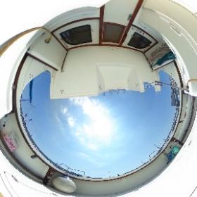 中古艇ドットコム ブラックフィン デッキ後方写真 #theta360