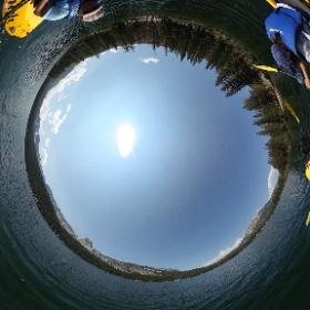 Kayaking at Lake Mary, Mammoth Lakes, CA #theta360
