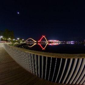 360 spherical.  Matagarup bridge swan river and more.  This pic used for compare 360 effects with apps in test page https://linkfox.io/y6R6v  #firefly3d #theta360
