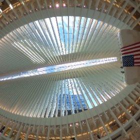 At the Oculus subway station near World Trade Center. #theta360