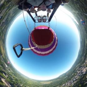 2500 feet above the earth in a hot air balloon