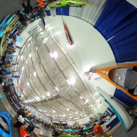 Hurricanes at Canoecopia, Madison, WI, March 13, 2016. #theta360