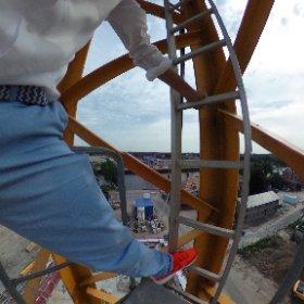 Arbeiten am Hunteplatz // Im Kran #theta360 #theta360de