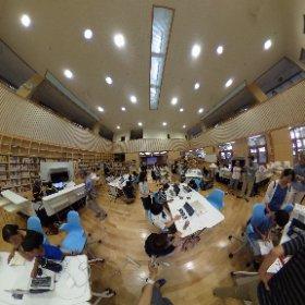 CoderDojo第6回の様子。青翔開智のラーニングセンターにて #theta360