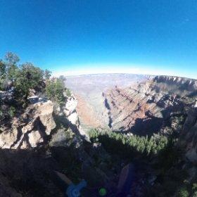 Over the edge of the Grand Canyon #theta360