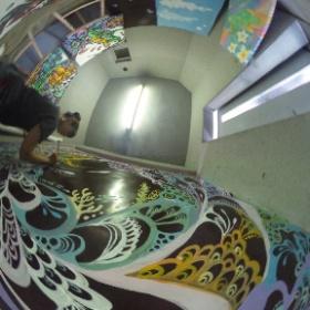 Artist Pokke104 at Work in Setagaya, Tokyo
