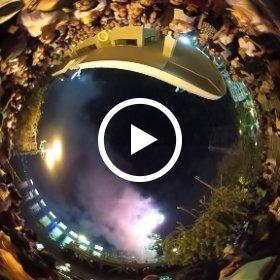 ベトナム・ホーチミン・南部解放記念日の打ち上げ花火 #theta360
