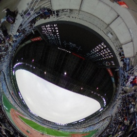 スタジアムシリーズ。日産スタジアムゴール裏シータ。 #theta360
