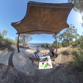 360 spherical Dryandra Lookout is a small chill zone, South West Escarpment of Kings Park views across Swan river, SM hub https://linkfox.io/LLHNY BEST HASHTAGS  #DryandraLookoutWA    #KingsParkWA   #PerthCity #Butterfly3d #theta360