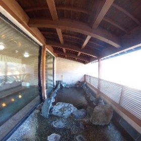 秀峰閣の露天風呂。 #theta360