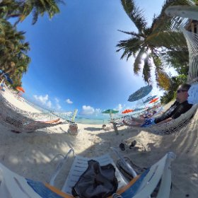 I miss laying in a #hammock without a care in the world. 😁 Shot during our stop on #CastawayCay while sailing on the #DisneyDream #theta360