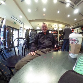 Starting the morning off with some coffee. #Paris #starbucks #isthisevenlegal #theta360