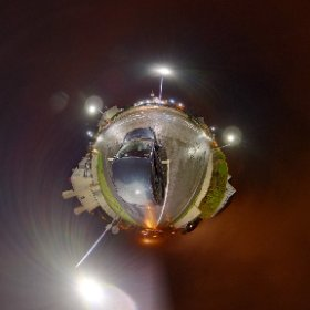 Knocknacarra at night | The junction at the St John the Apostle Catholic Church Ballymoneen Road | #galway360 #craicingalway #theta360