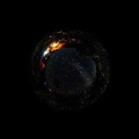 360°カメラの天の川写真🌌 Theta Z1久々に使ったよ😅 #theta360