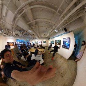 藪崎次郎さんの写真展トークセッションでシータθ #theta360