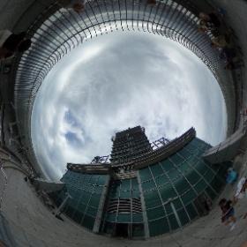 #まるちゃん台湾旅行 #台北101 展望台の外 #theta360