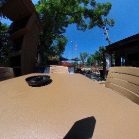 Jesse Oaks beer garden on a beautiful day #theta360