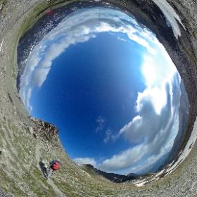 Al col de l'Eychassier Pic de Foreant (Pointe des Fonzes) - Valle del Queyras - Francia