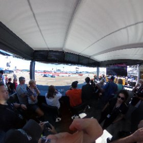 "A shot from inside the #Verizon suite on pit lane during #Indycar qualifying. That's my ""I can't believe I'm here"" face. Best. Day. Ever. 😁😁 #theta360"