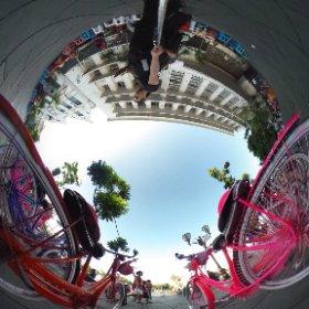 Dua sepeda Onthel ini, lucu juga buat difoto :3  #theta360