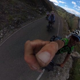 A 45km 2500mtr climb today. The longest switchback ever 9km #theta360