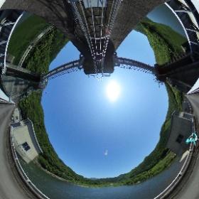 #浜原ダム の天端から #ミクシータ。  #ダム #ダム巡り #miku360 #theta360